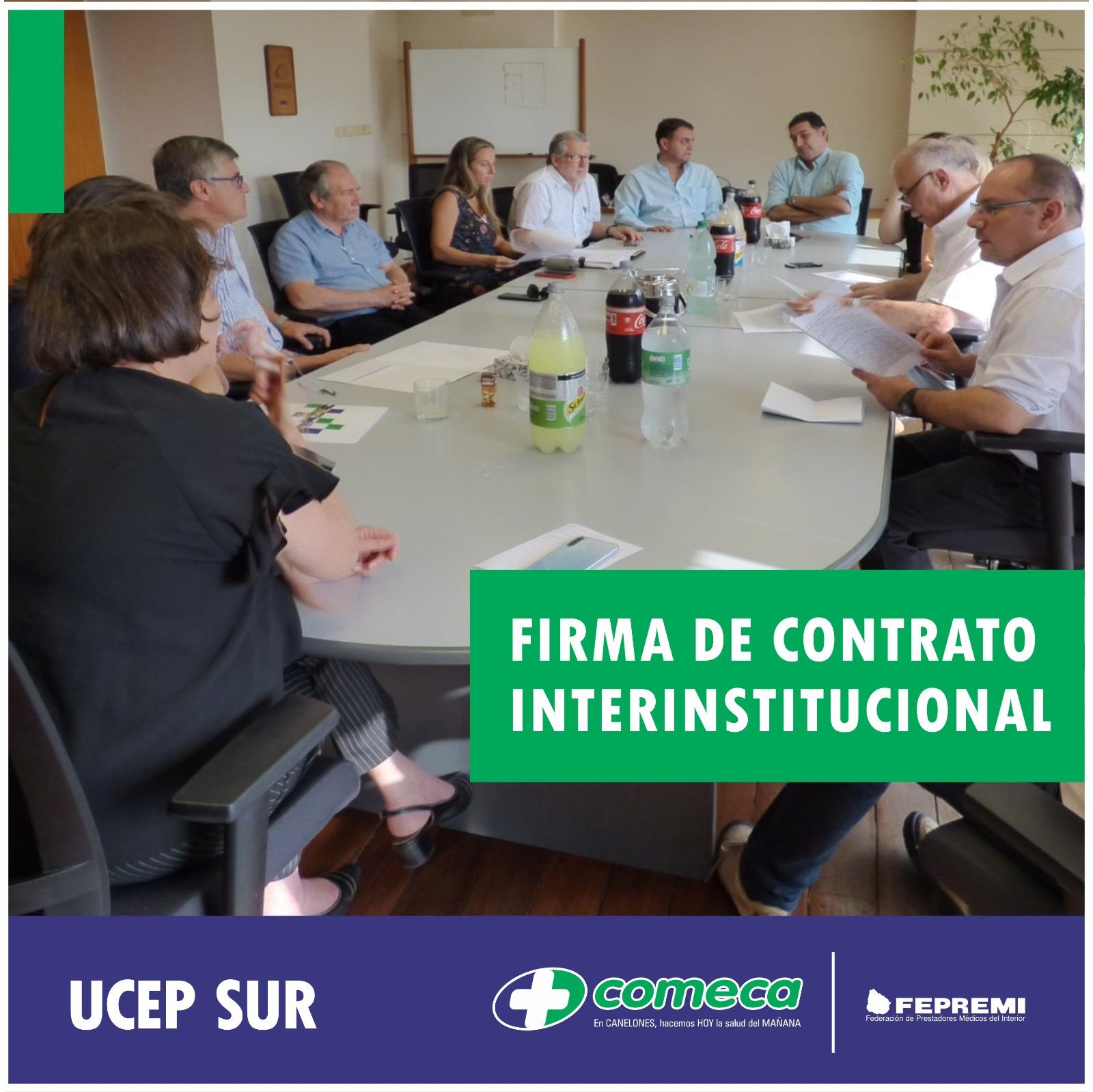 Firma de contrato interinstitucional - UCEP SUR