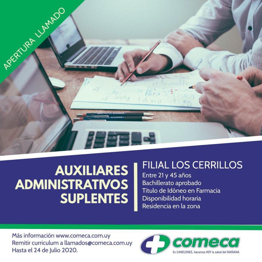 Se llama a aspirantes para conformar listado de Auxiliares Administrativos Suplentes, para la Filial de Los Cerrillos