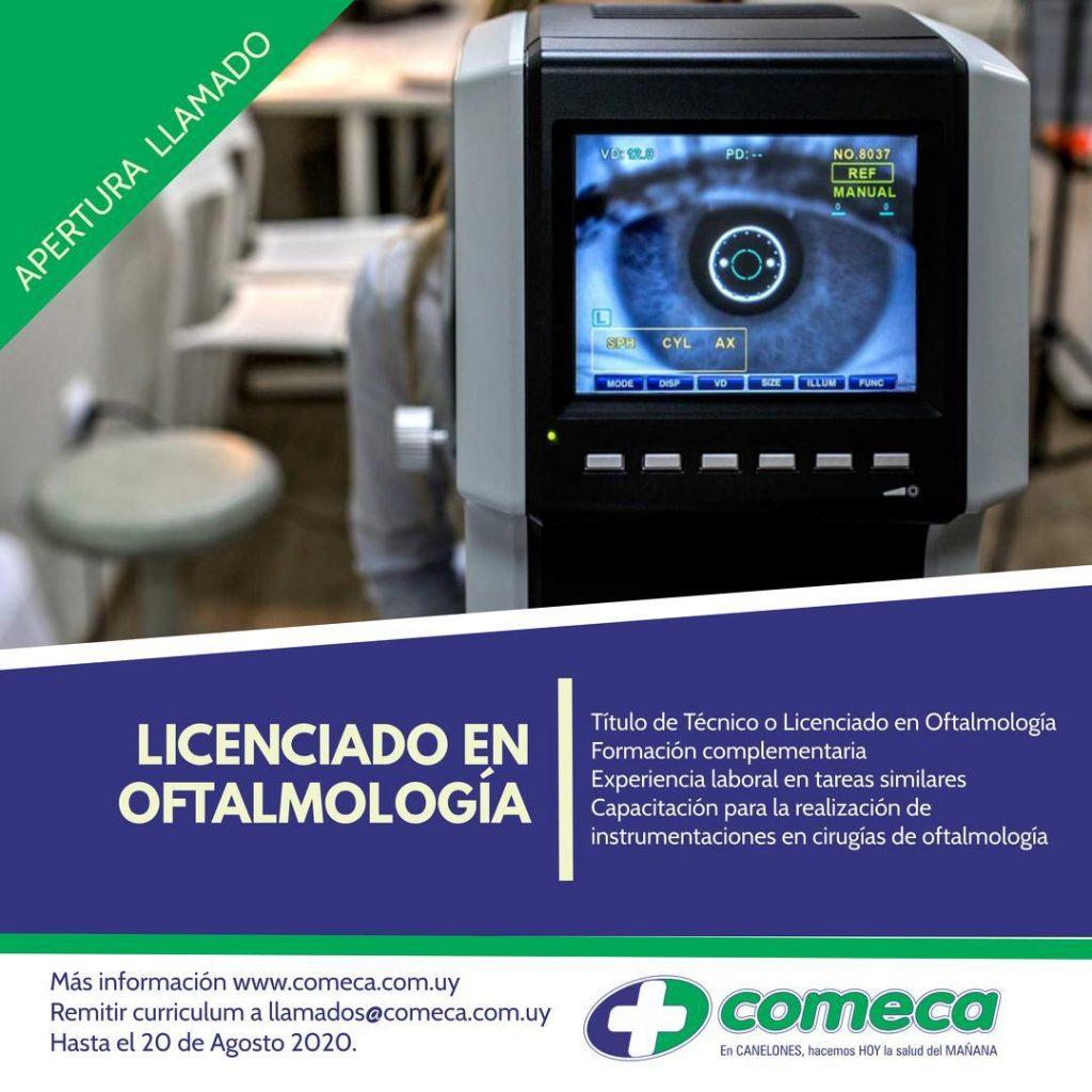 LLAMADO LIC.OFTALMOLOGIA
