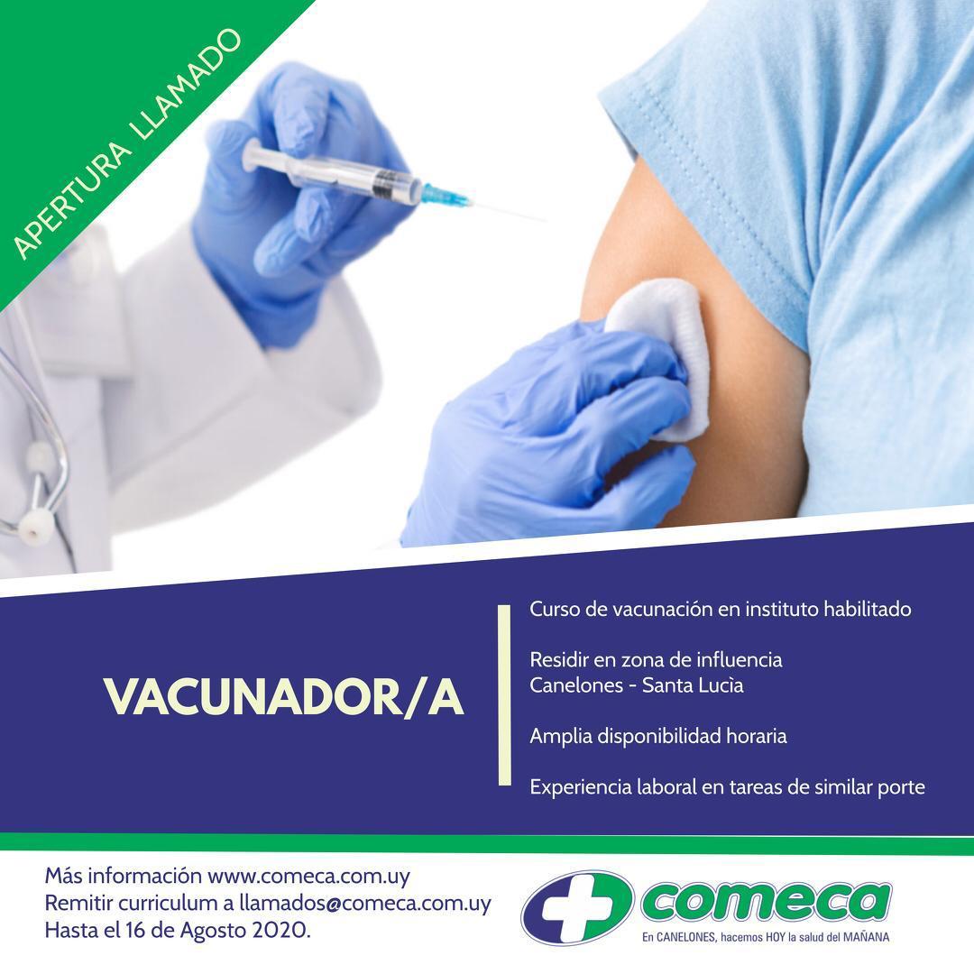 LLAMADO VACUNADOR/A