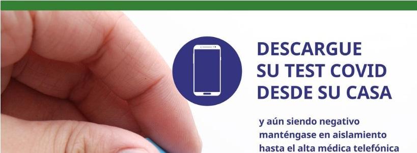 DESCARGUE SU TEST DE COVID DESDE SU CASA :