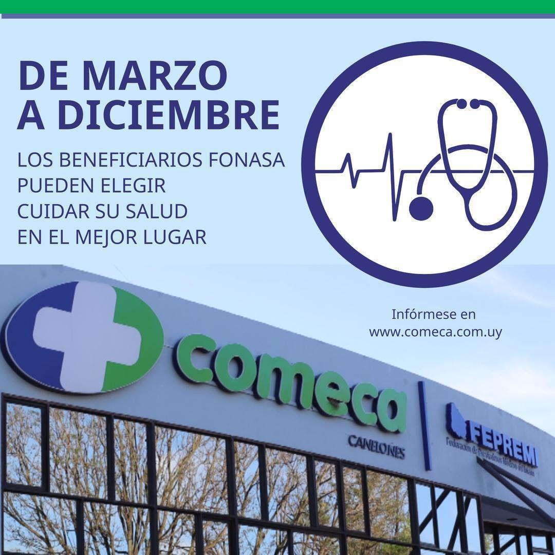 De marzo a diciembre los beneficiarios FONASA pueden elegir cuidar su salud en COMECA ganando beneficios