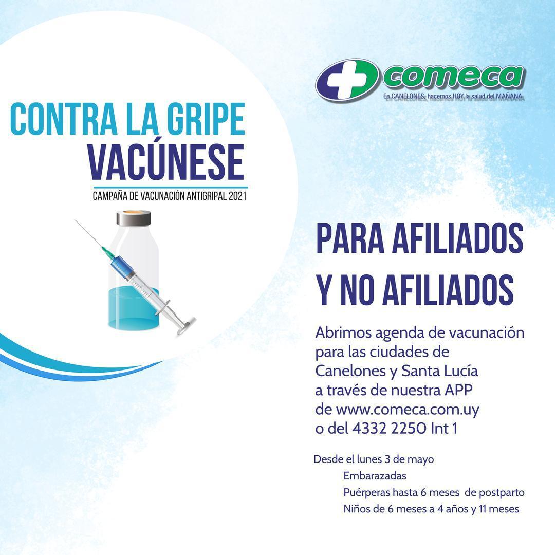 Apertura para afiliados y no afiliados de agenda para vacunación