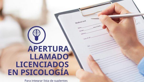 Llamado Licenciado en Psicología o Psicólogo