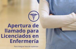 Se llama a aspirantes para conformar lista de suplentes de Licenciados en Enfermería